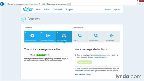Setting up Skype voicemail: Up and Running with Skype for Windows