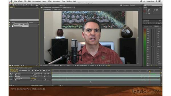 Frame blending options: Premiere Pro and After Effects: Adding Handle to Sound Bites