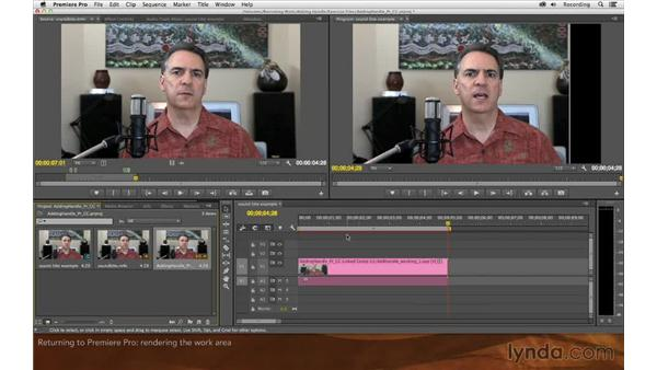 Dynamically linking back to Premiere Pro: Premiere Pro and After Effects: Adding Handle to Sound Bites