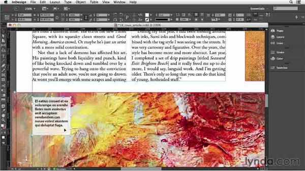 122 Allow text frame to resize with text: InDesign Secrets