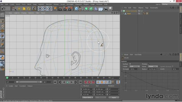 Creating the proxy model: Modeling Characters in CINEMA 4D