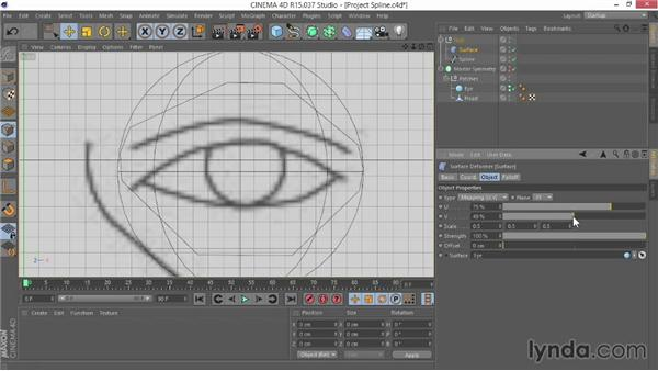 Projecting the spline onto the eye: Modeling Characters in CINEMA 4D