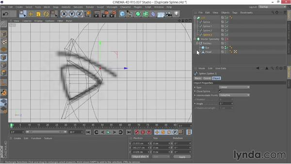Duplicating the spline to create the eye: Modeling Characters in CINEMA 4D