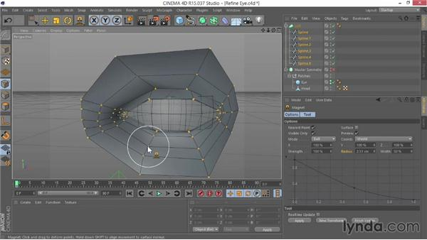 Refining the eye model: Modeling Characters in CINEMA 4D