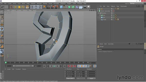 Filling in the ear: Modeling Characters in CINEMA 4D