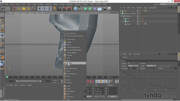 Adding loops: Modeling Characters in CINEMA 4D