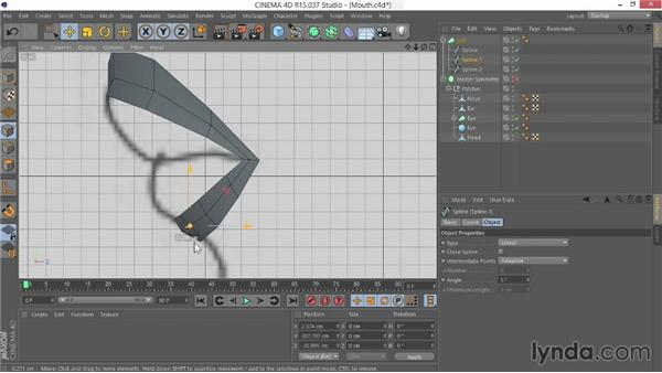 Creating the mouth: Modeling Characters in CINEMA 4D