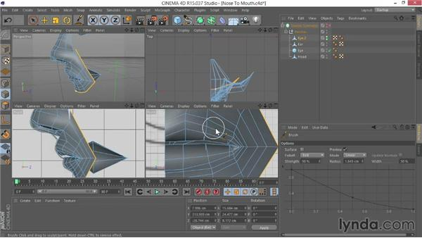Stitching the nose to the mouth: Modeling Characters in CINEMA 4D