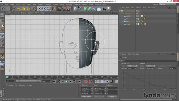 Creating the neck: Modeling Characters in CINEMA 4D