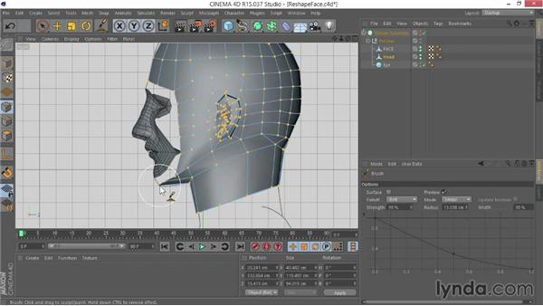 Reshaping the face to fit the head: Modeling Characters in CINEMA 4D