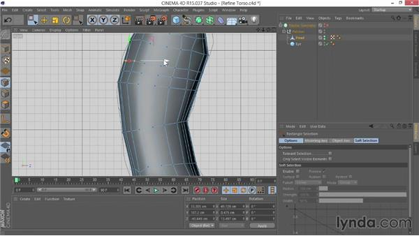 Refining the torso: Modeling Characters in CINEMA 4D