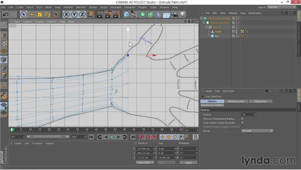 Extruding the palm: Modeling Characters in CINEMA 4D