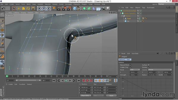 Cleaning up the character: Modeling Characters in CINEMA 4D