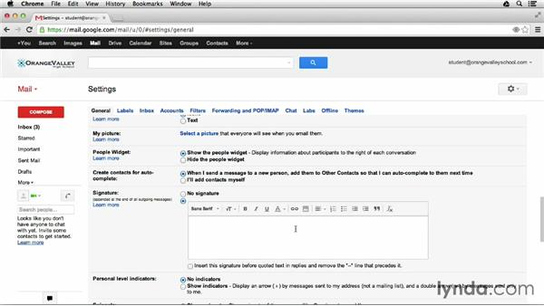 Creating a custom signature: Google Apps for Students