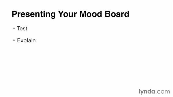 Presenting a mood board: Developing a Mood Board