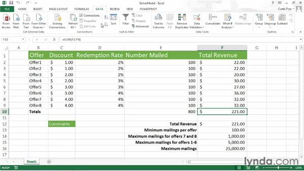 Activating Solver: Up and Running with Excel What-If Analysis