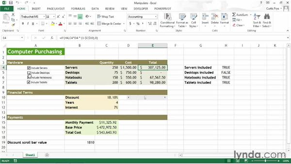 Manipulating your model: Up and Running with Excel What-If Analysis