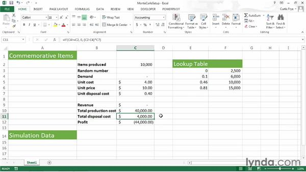 Crafting a scenario: Up and Running with Excel What-If Analysis