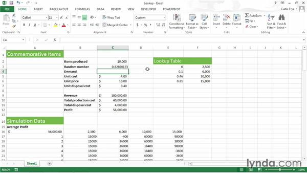 Calculating demand: Up and Running with Excel What-If Analysis