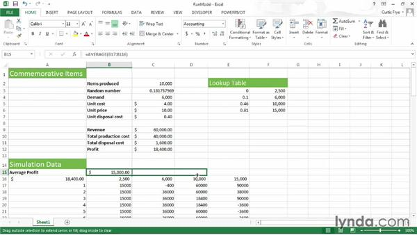 Running and evaluating your simulation: Up and Running with Excel What-If Analysis