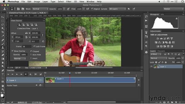 Cloning over time: Repairing and Enhancing Video