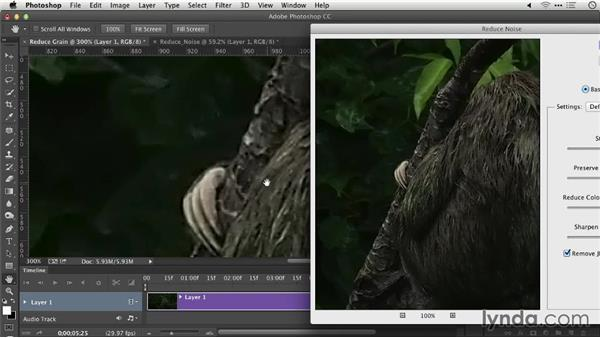 Removing noise and grain from footage: Repairing and Enhancing Video