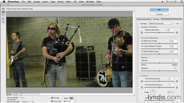 Removing lens distortion in video: Manual: Repairing and Enhancing Video