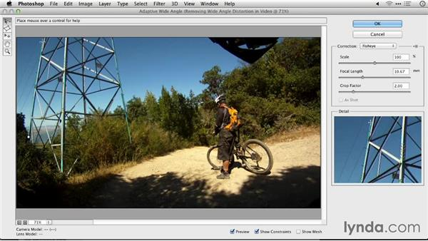 Removing wide-angle distortion in video: Repairing and Enhancing Video