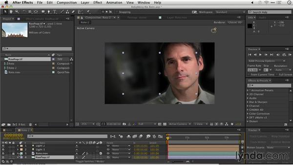 Relighting the Roto Brush scene: Repairing and Enhancing Video