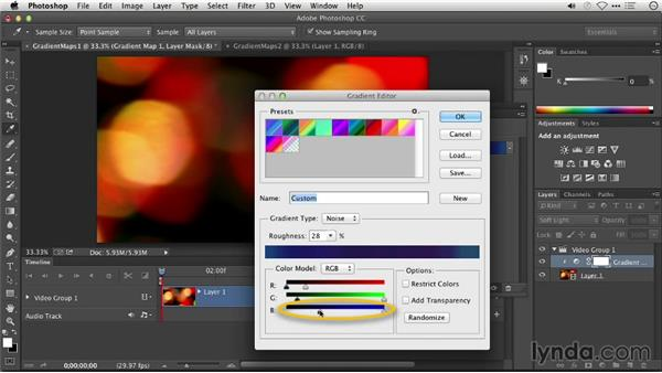 Stylizing color with gradient maps: Repairing and Enhancing Video
