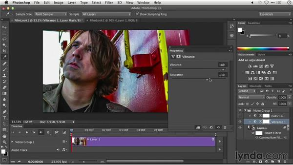 Creating a film look: Repairing and Enhancing Video