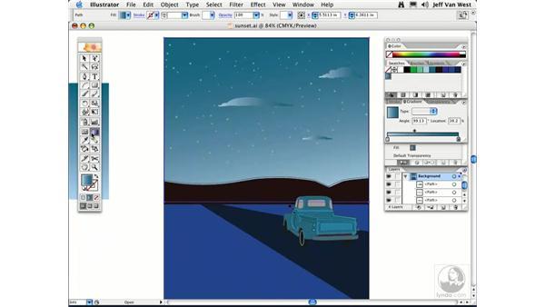 Linear Gradients: Illustrator CS2 Essential Training