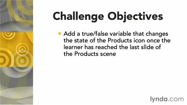 Challenge: Adding a true/false variable: Articulate Storyline Advanced Techniques