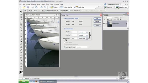 Resizing Photos: Photoshop Elements 3 Essential Training