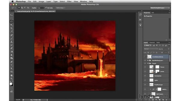 Preparing the textured castle for camera projection: Digital Matte Painting Essentials 5: Camera Projection in Maya