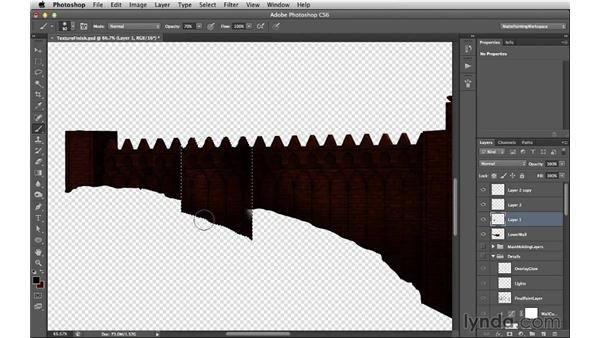 Isolating the first two layers: Digital Matte Painting Essentials 5: Camera Projection in Maya
