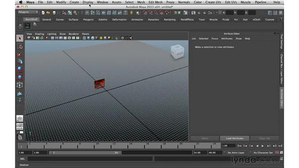 Adding the image plane: Digital Matte Painting Essentials 5: Camera Projection in Maya