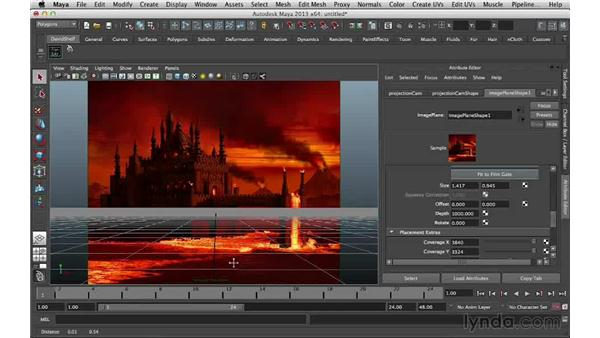 Positioning the grid: Digital Matte Painting Essentials 5: Camera Projection in Maya