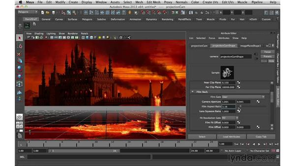 Setting device and film aspect ratios: Digital Matte Painting Essentials 5: Camera Projection in Maya