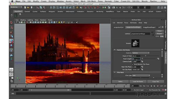 Matching the camera to the painting: Digital Matte Painting Essentials 5: Camera Projection in Maya