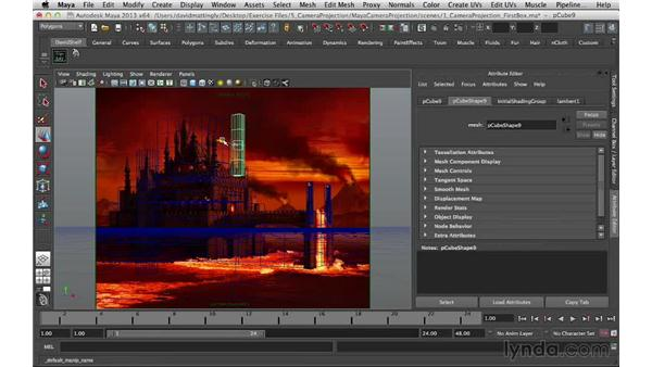Creating the rest of the castle geometry: Digital Matte Painting Essentials 5: Camera Projection in Maya