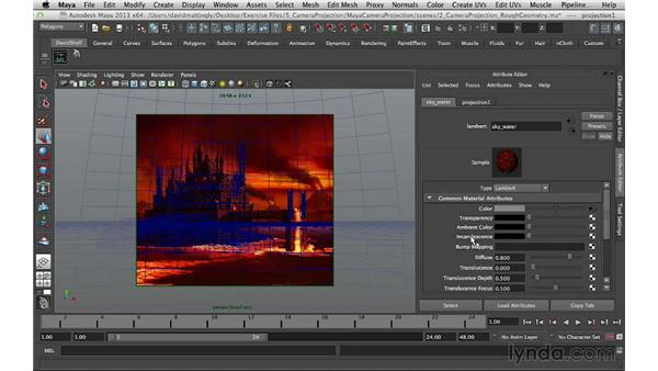 Projecting the first texture: Digital Matte Painting Essentials 5: Camera Projection in Maya