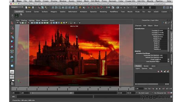 Animating the camera: Digital Matte Painting Essentials 5: Camera Projection in Maya