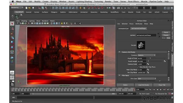 Rendering the scene: Digital Matte Painting Essentials 5: Camera Projection in Maya