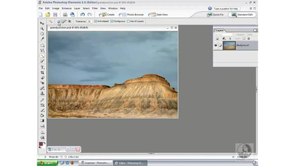 Magic Wand Tool: Photoshop Elements 3 Essential Training
