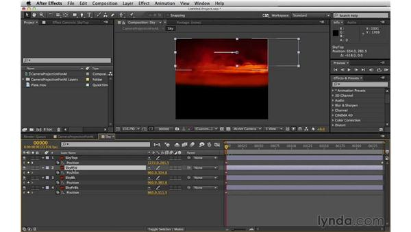 Adding a moving sky: Digital Matte Painting Essentials 5: Camera Projection in Maya