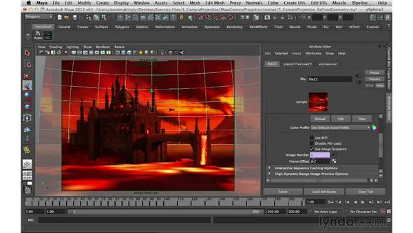 Bringing the moving background into Maya: Digital Matte Painting Essentials 5: Camera Projection in Maya