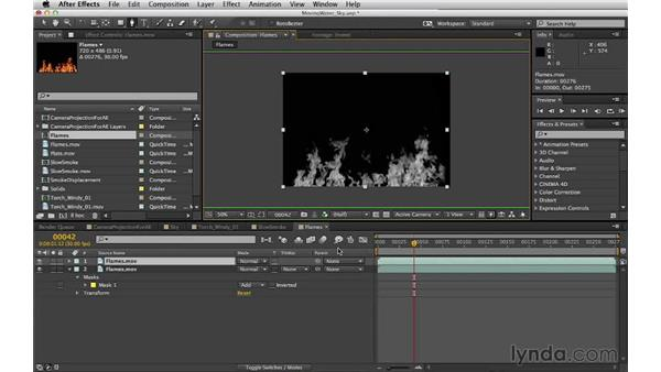 Creating an alpha channel: Digital Matte Painting Essentials 5: Camera Projection in Maya