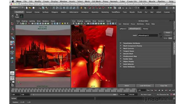 Adding special effect glows: Digital Matte Painting Essentials 5: Camera Projection in Maya
