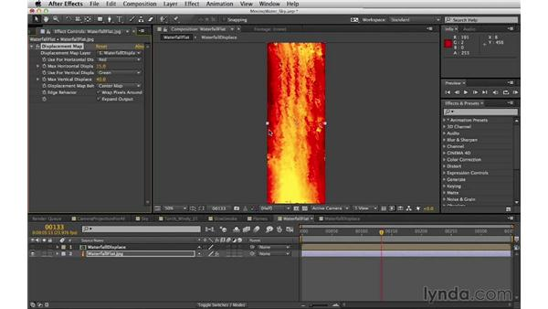 Creating a lava waterfall: Digital Matte Painting Essentials 5: Camera Projection in Maya